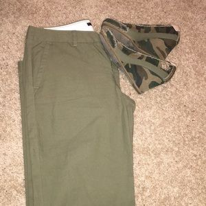 Gap green Khakis